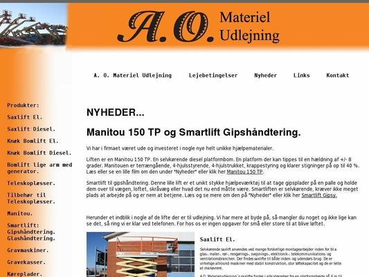 A.O. Materiel Udlejning - 21.11.13