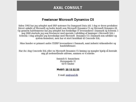 AXAL Consult ApS - 23.11.13